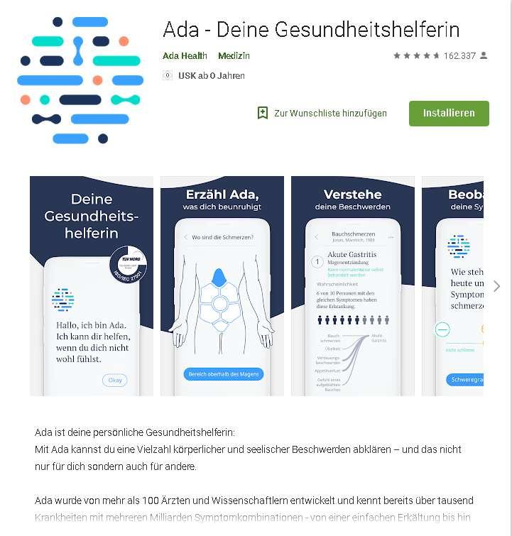 screenshot android store ada app