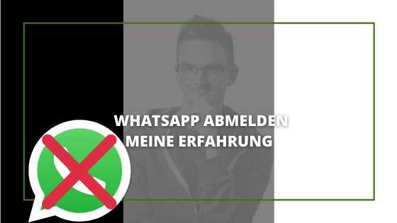 Whatsapp Abmelden